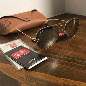 Ray-Ban Glasses RB3025 58mm Grey Mirror Lenses